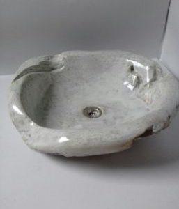 Single bowl sink – Vintage wooden white color