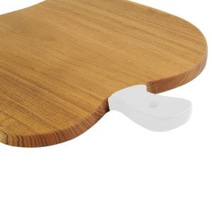 "White Cutting board / White the handle food place ""Apple"""