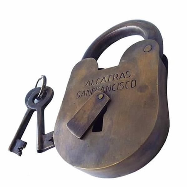 Solid Brass Lock Alcatras